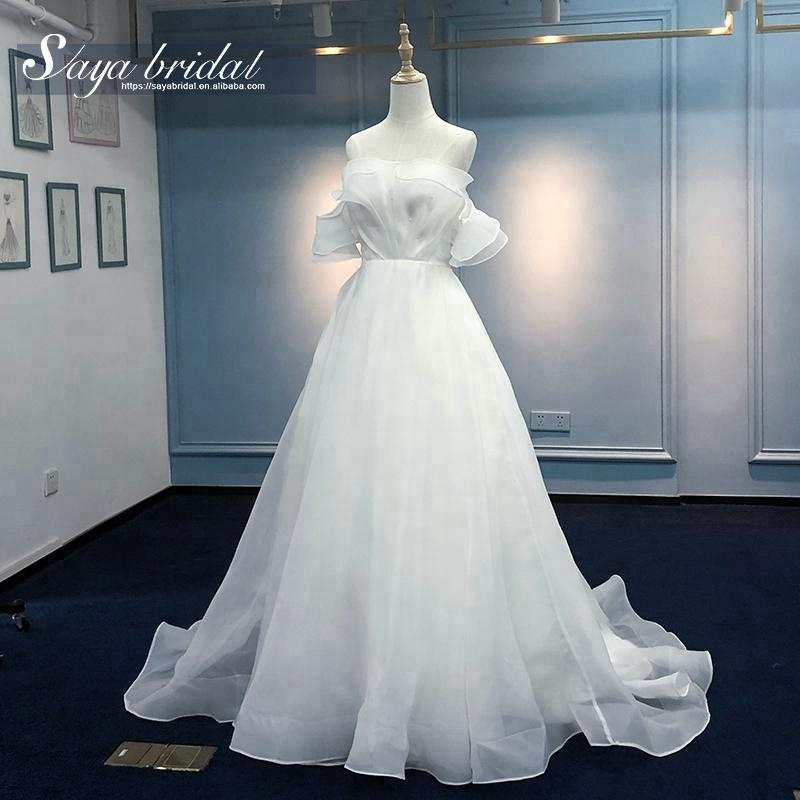 2018 sexy cap sleeves bridal gowns wedding dress