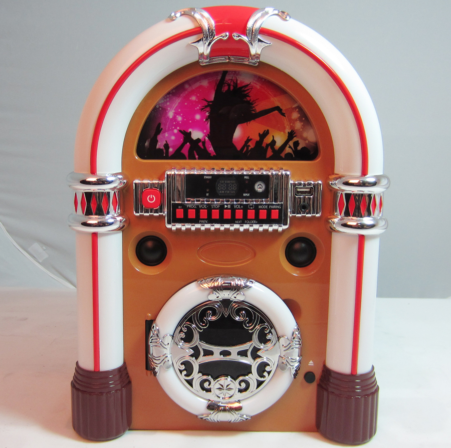 jukebox with CD player,FM radio,AUX in,Bluetooth,USB and Stereo Speaker