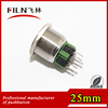 push button stainless steel 25mm no lamp 2NO2NC momentary panel mount switch