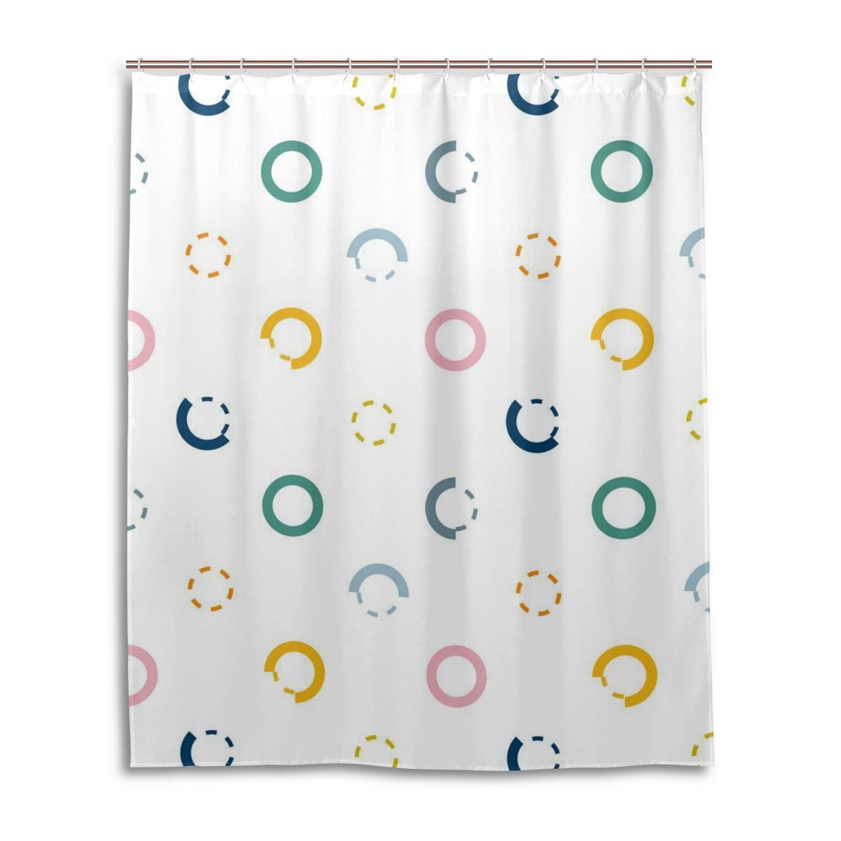 Get Quotations Suabo Polyester Waterproof Fabric Shower Curtain Decorative Bathroom With 12 Hooks 60 W
