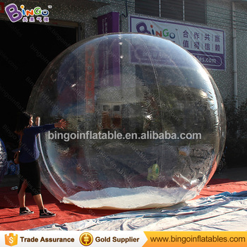 Air Sealed Christmas Inflatable Clear Snow Globe Ball For Outdoor Decoration Buy Snowing Ball Inflatable Snow Globe Christmas Snow Globes Blower