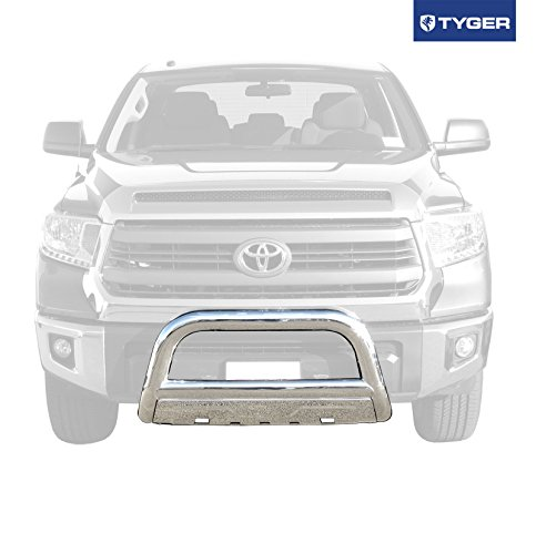TYGER 3.5inch Oval Stainless Steel Bull Bar Fits 07-15 Toyota Tundra/08-15 Sequoia