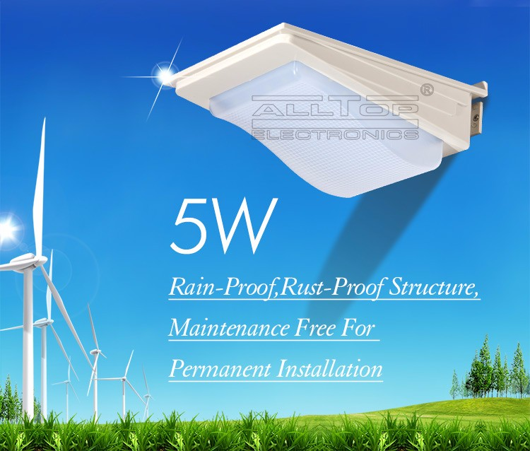 5w industrial waterproof unbreakable IP65 mini led wall light outdoor