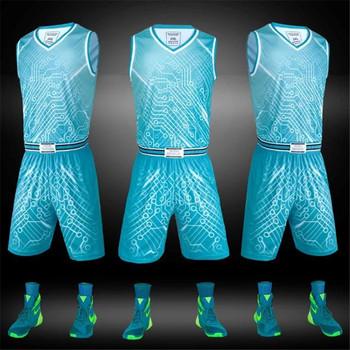 5ba6788261f Latest Best USA Youth Dry Fit Blank Sublimation Reversible Basketball  Jersey Uniform Set Custom Logo Design