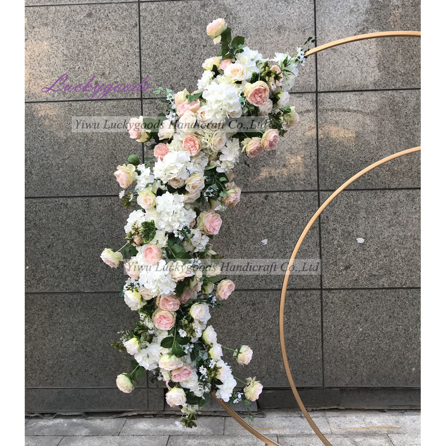 LFB1021 lucuxy rose peony flower runner elegant decorative plastic table flower garland for sale