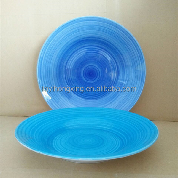 "New bone china cyclone 8"" 9"" crockery ceramic dessert soup plates for restaurant"