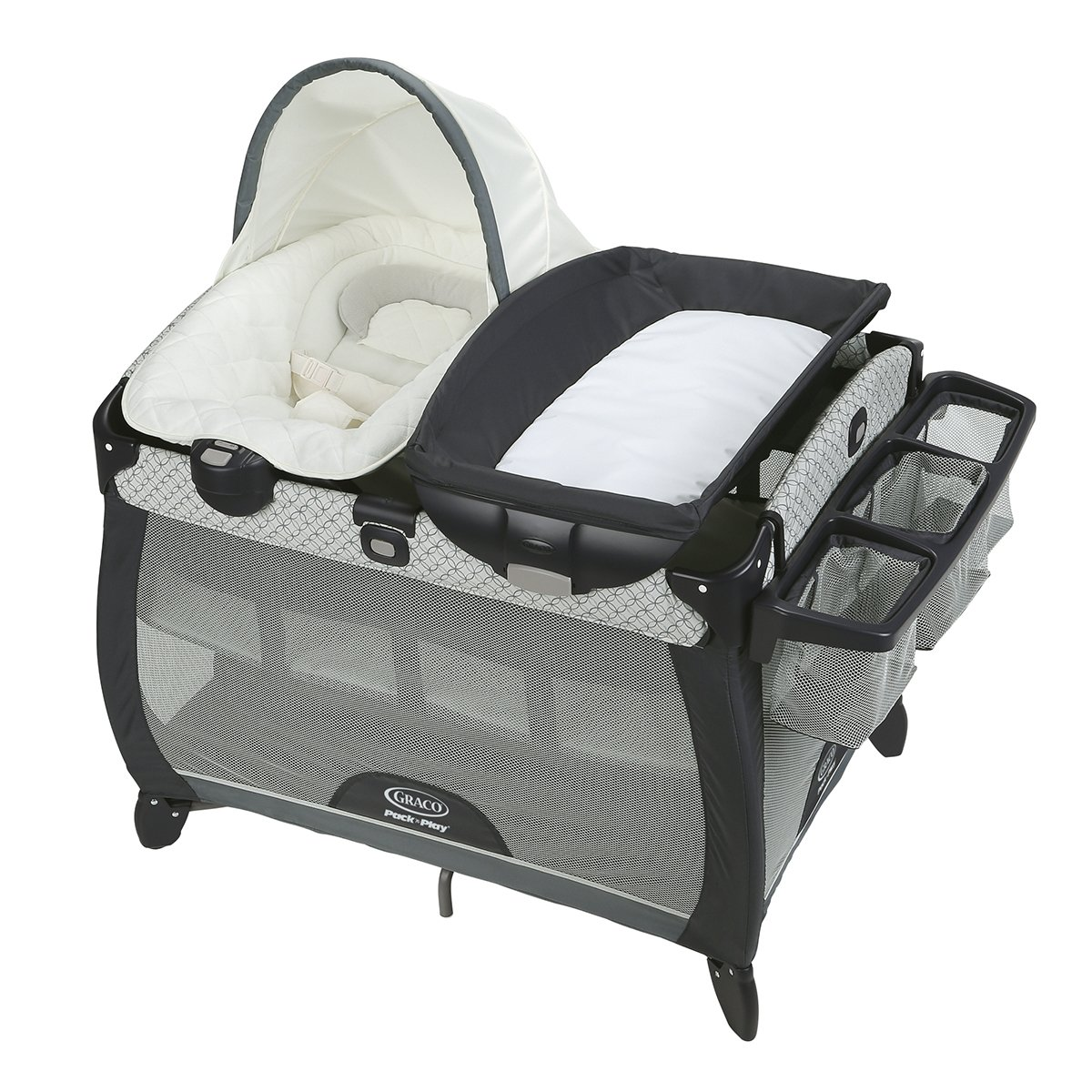 57e16060f856 Get Quotations · Graco Pack  n Play Quick Connect Portable Napper Deluxe  with Bassinet