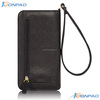 Mobile phone case wallet with card slots and belt for women