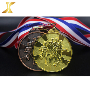 Wholesale Cheap Custom Gold Plated Souvenir Metal Sports Award miniature medals