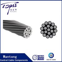 1*19 Ungalvanized Stainless Steel Wire Rope For Control Cables