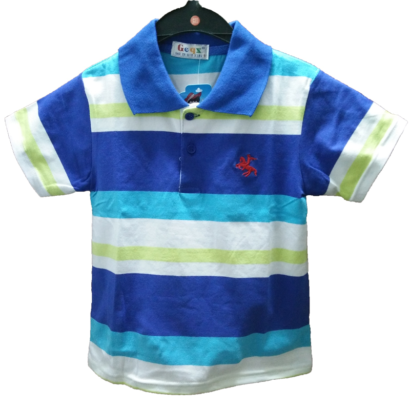 2015 new baby boys polo shirts children polo shirt striped short sleeve summer style 2-7 year children clothing boys clothes
