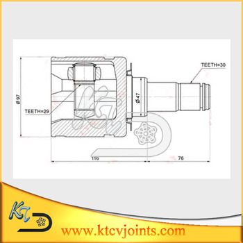 Oe 43040-0k010 To-731 Toyota Hilux Inner Cv Joint With Tripod ...