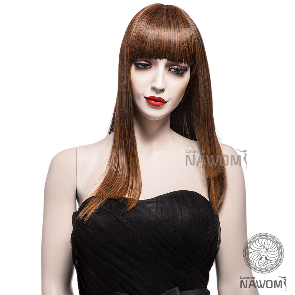 6ef06cfc9ae New Arrival Front Bang Wig Light Brown Straight Wig Synthetic Cosplay Wigs  Long Straight Cos Wig