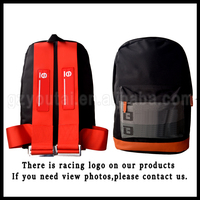 JDM Racing Backpack Red Canvas Harness Bag,Seat Belt Backpack Cheap