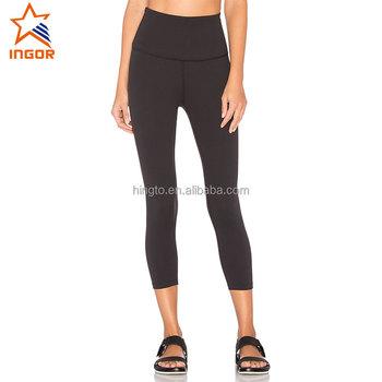 b785b739cbc83 2018 Ladies comfortable wear yoga pants,fashion plain black sport leggings,active  wear