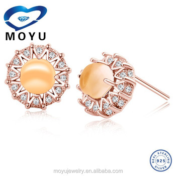 Citrine jewelry citrine simple gold earring designs for women