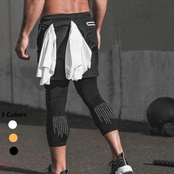 Mens Custom Running Crossfit Sports Gym Compression Jogger Sweat Yoga Shorts Pants
