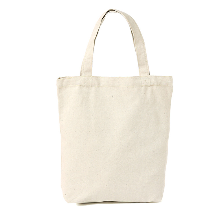 Wholesale High Quality Blank Plain Natural Cotton Canvas Shopping Tote Bag with custom printed logo