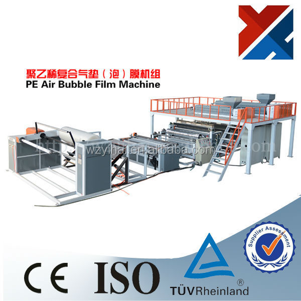 ISO 900 YHPEG 4 layer PE compound plastic air bubble sheet making machine