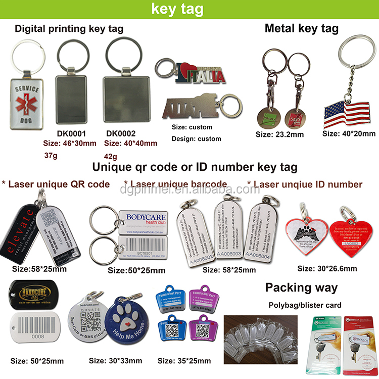 Top selling custom qr code pet tag pet id tag