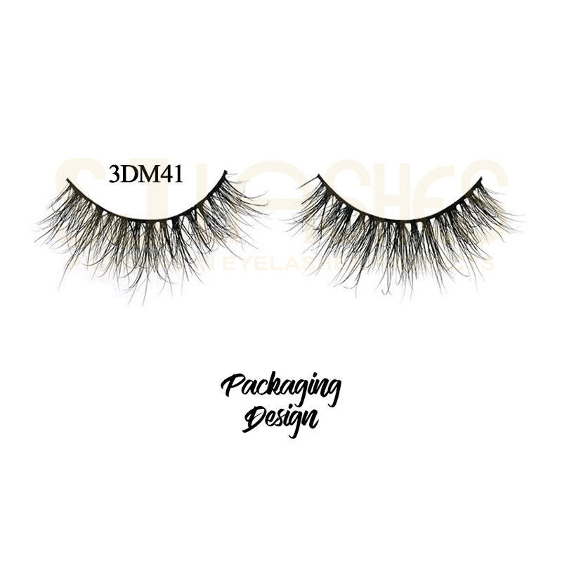 Clear band natural real mink fur strip false eyelashes whosale price  False Eyelashes