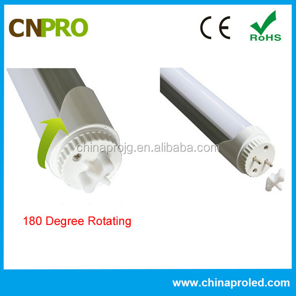 Easy Installation Warm White 1200LM LED Tube 2FT 9W With Rotating End Cap