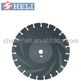 ductile iron blades laser welded for cutting diamond