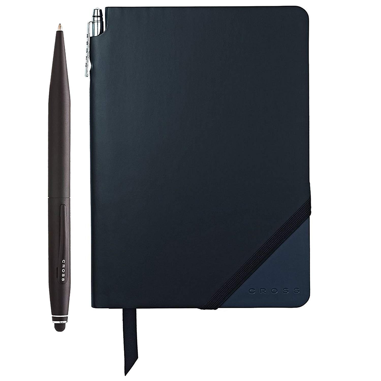 Cross Tech2 Ballpoint Pen with Refills w/Jotzone Journal (Black/Navy - Medium)