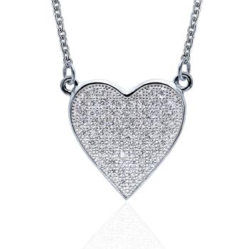 8163f0425a4 POLIVA Fashion Amazon Best Seller Heart Shape 925 Sterling Silver Necklace  Women 2018