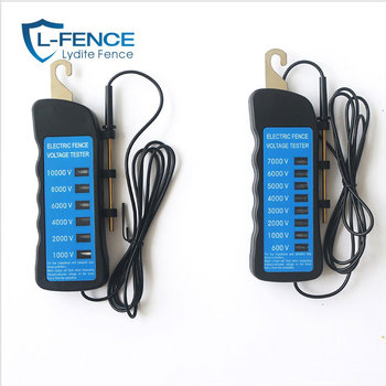 Eight lamp 7KV volts Portable ABS plastic Electric Fence Tester For Animal fence