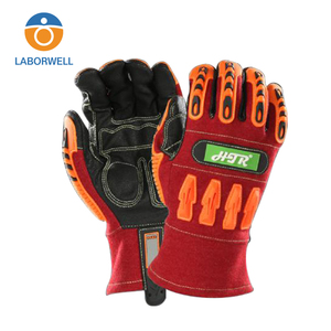 New design flame retardant anti slip impact welding safety working gloves