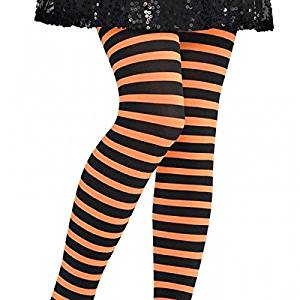 5223446e3f7 Get Quotations · Halloween Striped Children Tights (orange black)  Small medium