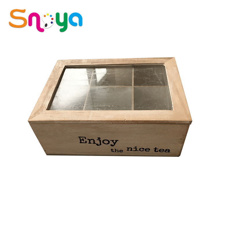 Wholesale Custom Divided 6/9 Compartments Wooden Packaging Tea Box