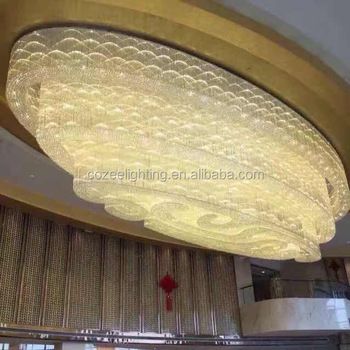 Large larmp decoration chandelier oval crystal chandeliers for large larmp decoration chandelier oval crystal chandeliers for hotel and shopping mall decoration czpc018 mozeypictures Gallery