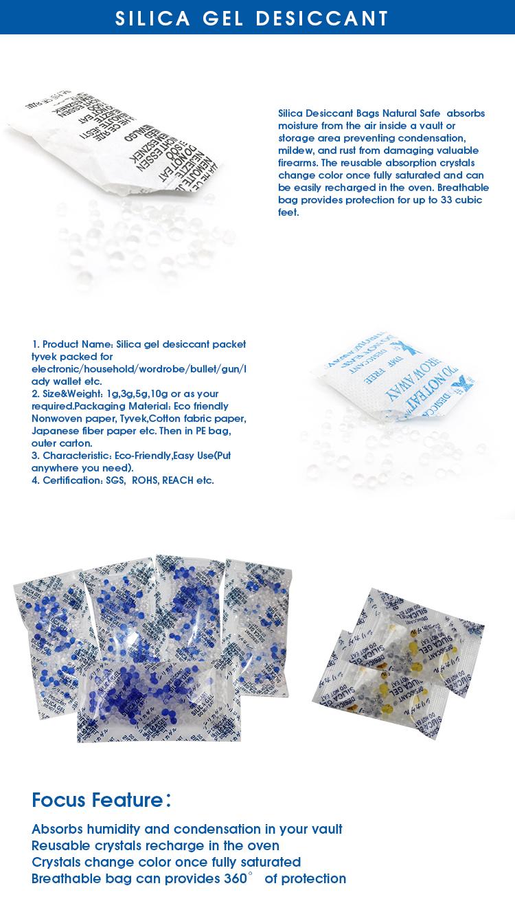 Gel di silice assorbente di umidità anti umidità essiccante commercio all'ingrosso