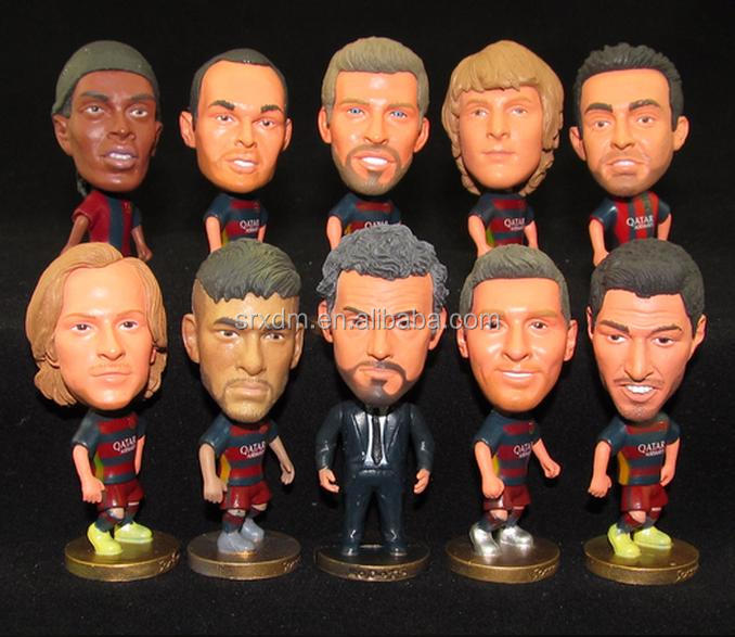 10cm plastic football players,football player action figure,create own design football team