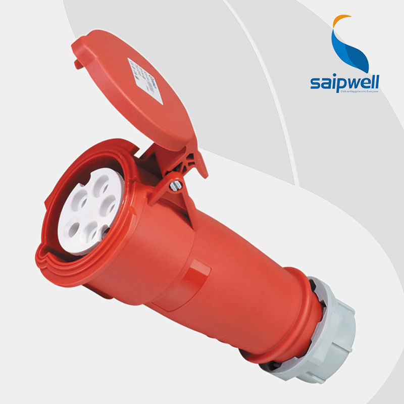 Wholesale Saipwell SP6 IP44 32A 400V power connector socket outlet 5 pin universal electric extension sockets Industrial uses