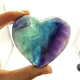 Wholesale Natural Fluorite Stone Heart Shaped Healing Crystal Rocks