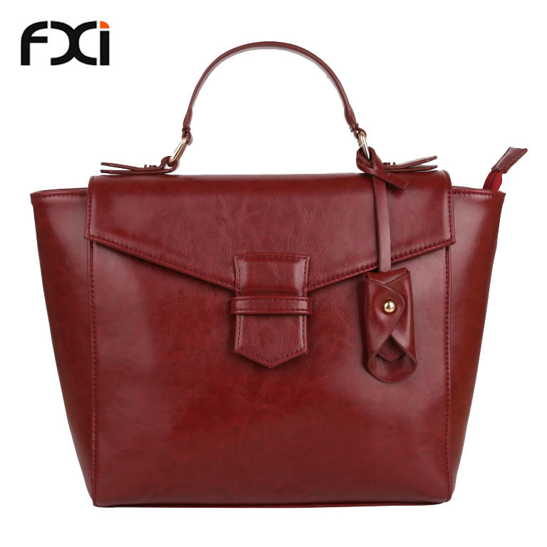 burgundy designer handbags retro ladies PU leather bags vintage tote bags women messenger bag sac a main femme de marque 2015