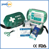Green waterproof travel outdoor sport medical vehicle and general purpose first aid kit mini handle survival bag