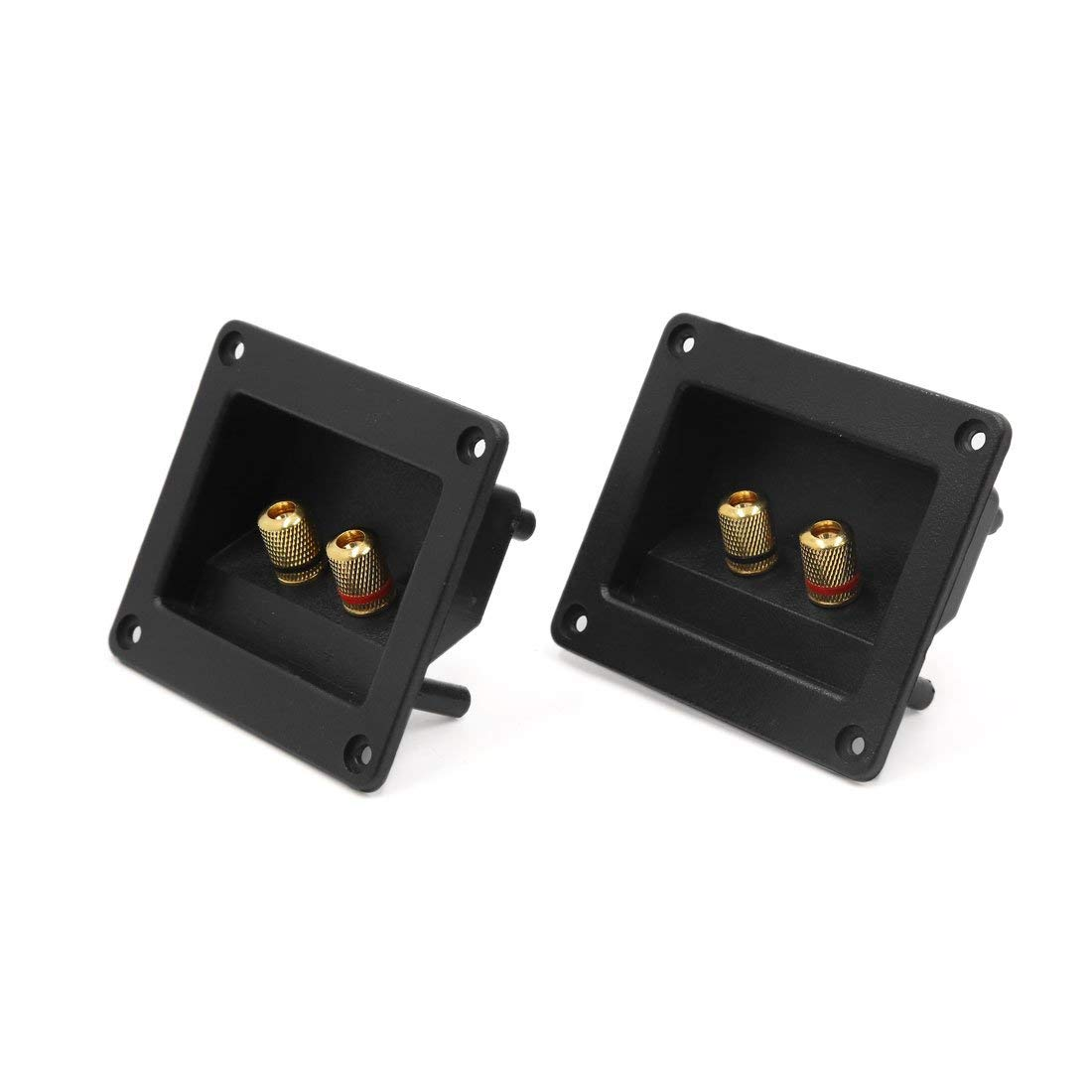 uxcell 2Pcs Square Shaped Car Audio Speaker Spring Binding Post Dual Terminal Connector Board