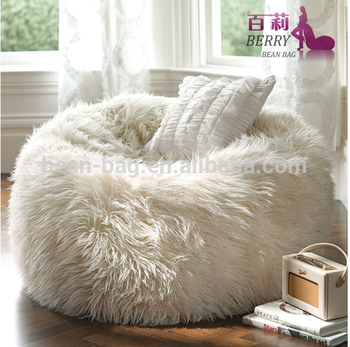 Snow White Faux Furry Luxury Bean Bag Chair
