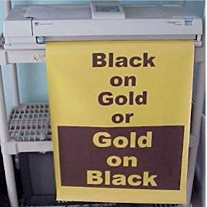 Variquest / Fujifilm / Varitronics Poster Paper (DTP) 23″ x 100′ rolls - Black on Gold