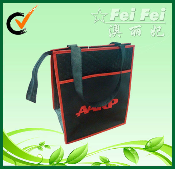 Black utrasonic imprinted thermal bag