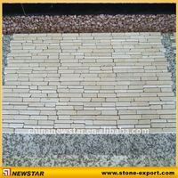 China cheap white tumbled travertine mosaic tile