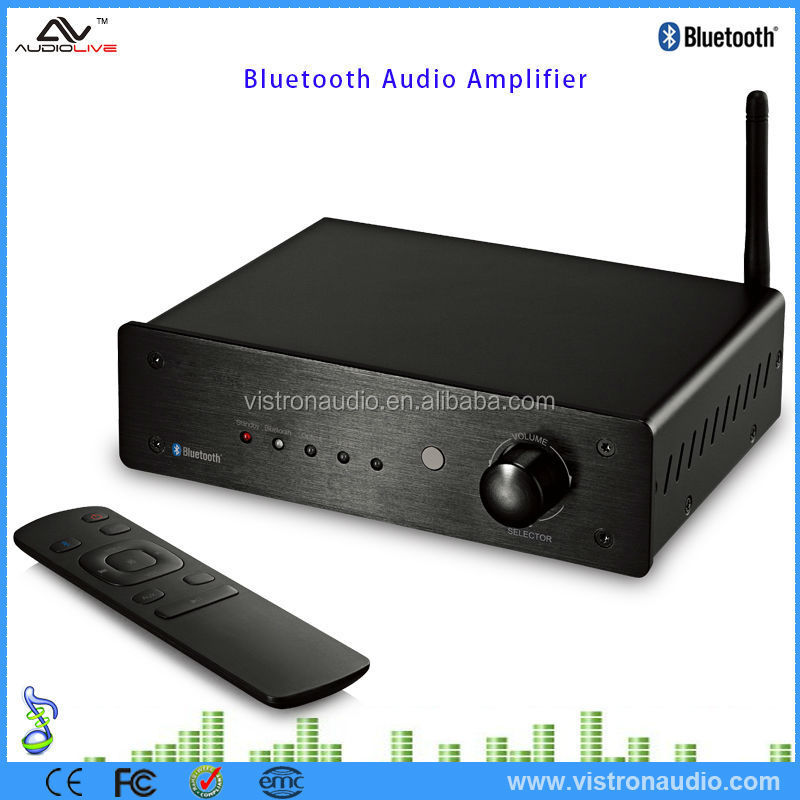 Hifi Mini Bluetooth Class D Stereo Amplifier With Remote Control For Home -  Buy Stereo Amplifier,Amplifier For Home,Mini Bluetooth Amplifier Product