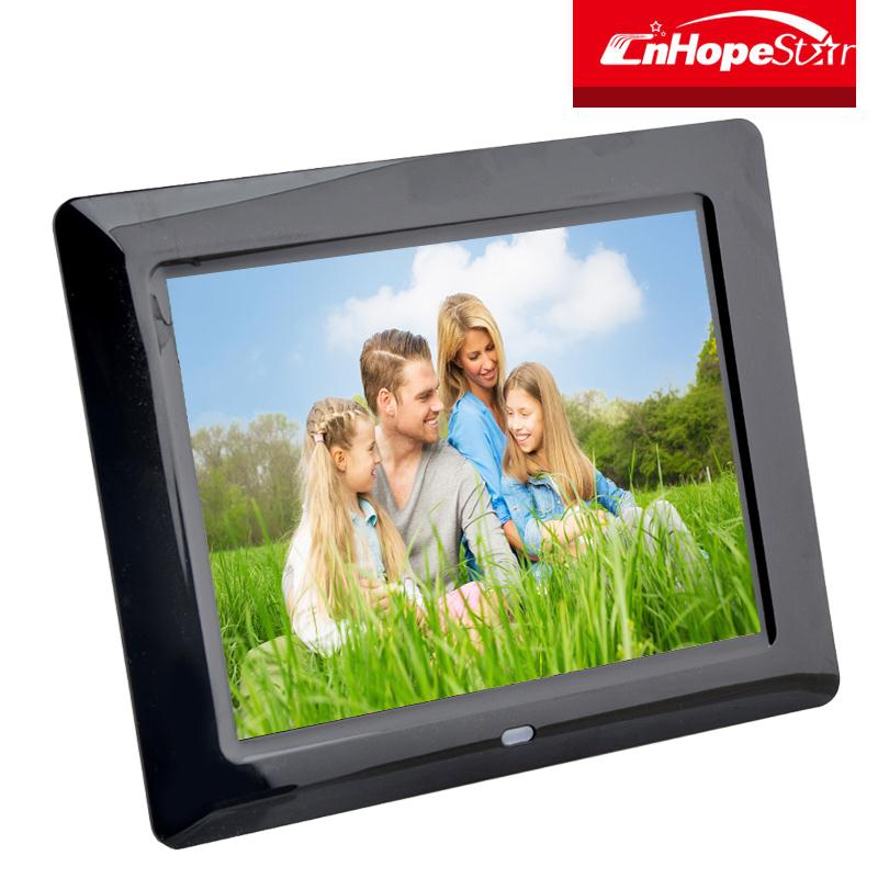 sd card slot multi function 8 inch digital photo frame with high resolution