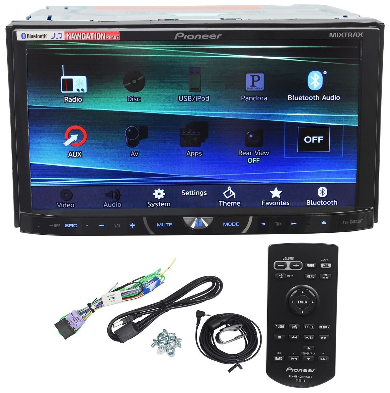 Buy Pioneer Avh X4600bt 7 Double Din Car Stereo Receiver Bluetooth Audio Siri Eyes
