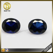 Loose gemstones wholesales oval shaped blue imitation sapphire