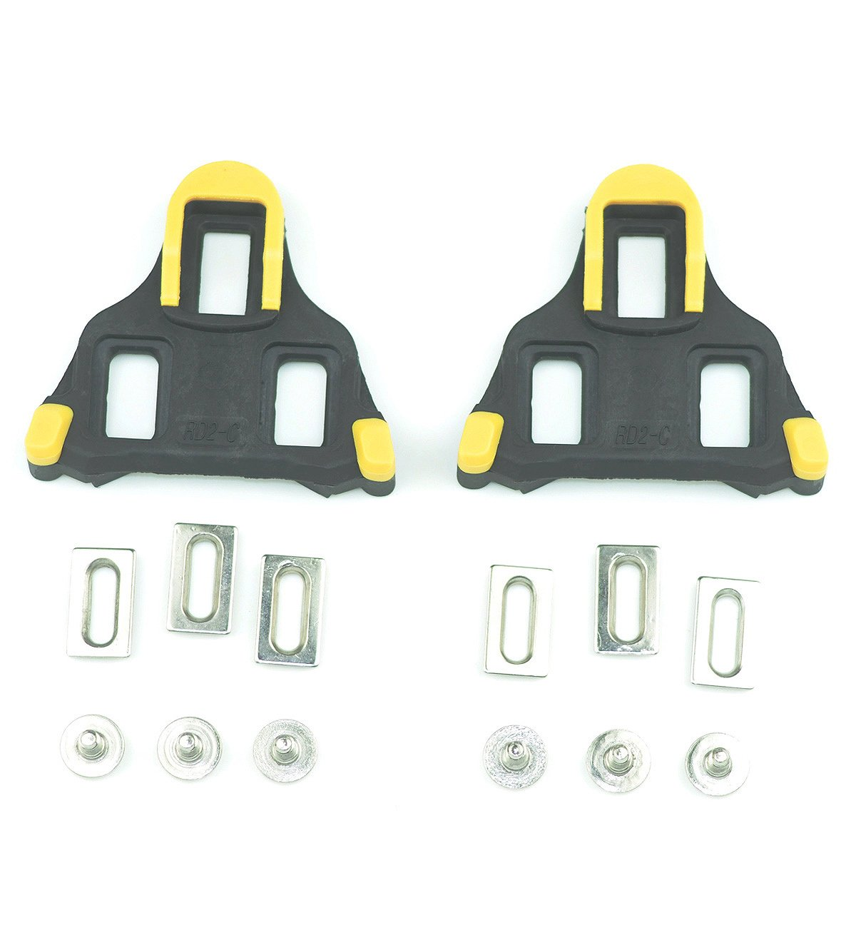Bike Cleats For Shimano SH11 SPD-SL Shoes Indoor Cycling or Road Bike Bicycle-Yellow